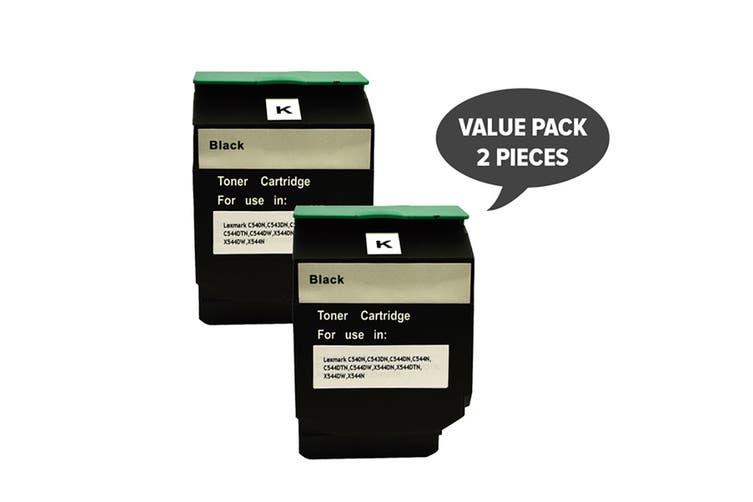 C544B C544XIKG Premium Generic Black Toner (Two Pack)