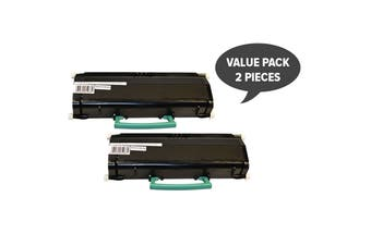 E260 Black Generic Toner Cartridge (Two Pack)