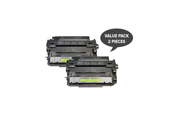 CE255X #55X Premium Generic Toner (Two Pack)