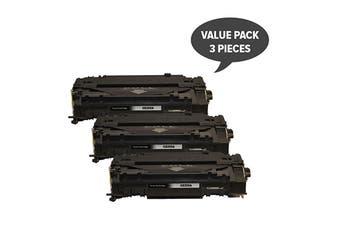 CE255A Premium Generic Toner (Three Pack)