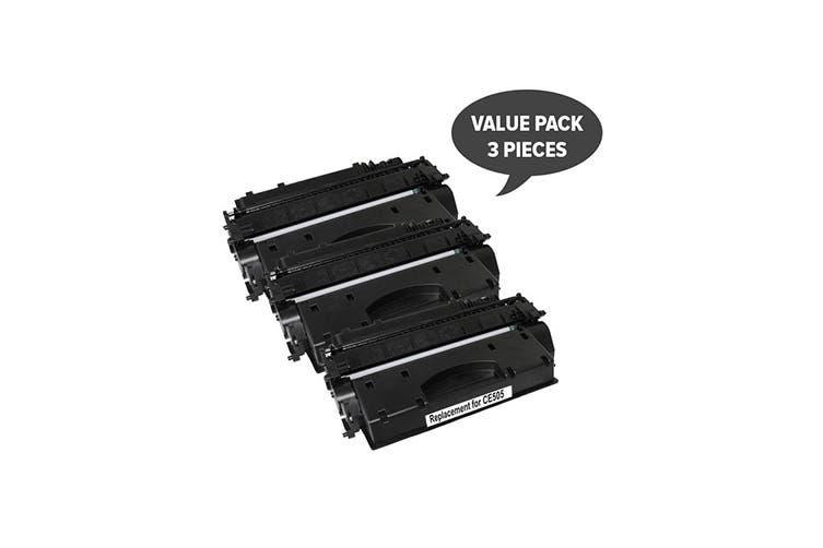 CE505A #05A Cart 319i Black Premium Generic Toner (Three Pack)