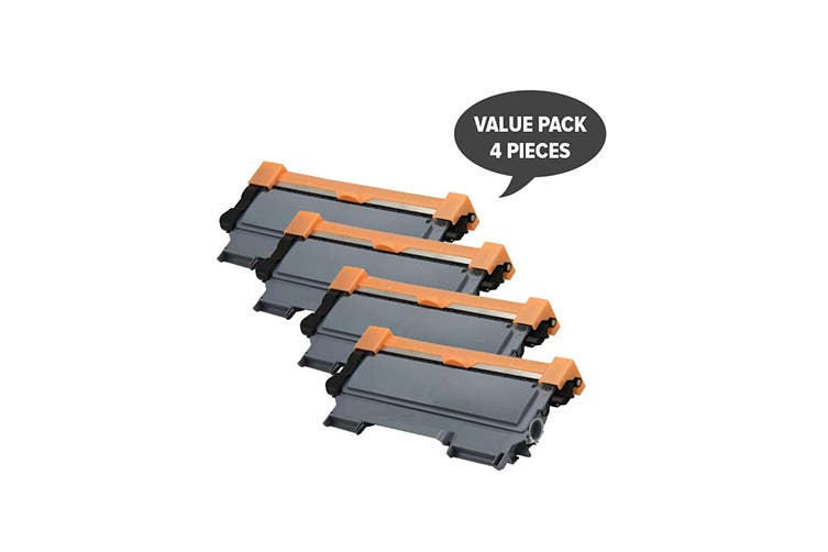 TN-2250 Black Premium Generic Cartridge (Four Pack)