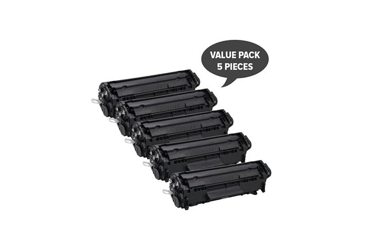 Q2612A #12A Cart-303 Premium Generic Toner (Five Pack)