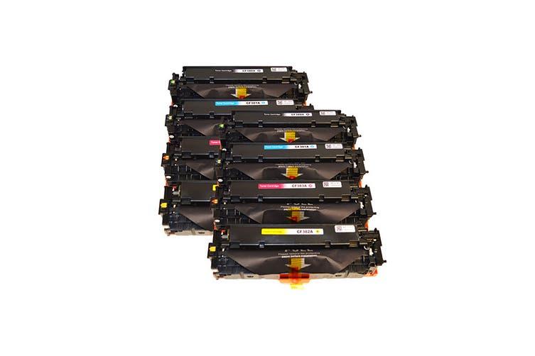 CF380X #312X Series Premium Generic Remanufactured Laser Toner Cartridge Set (Two Pack)
