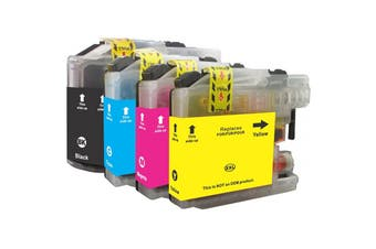 LC137 LC135 Compatible Inkjet Cartridge Set  4 Ink Cartridges