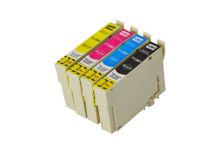 138 Compatible Pigment Series Inkjet Set 4 Cartridges