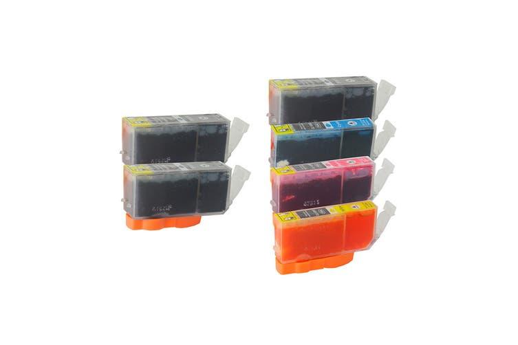 PGI-520 CLI-521 Compatible Inkjet Cartridge Set  6 Cartridges