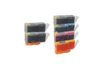 PGI-525 Compatible Inkjet Set 6 Cartridges