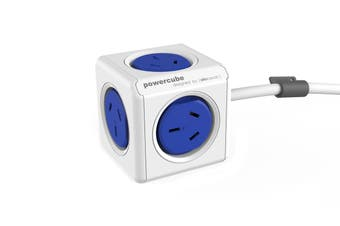 Allocacoc PowerCube 1.5m with 5 Power Outlets - Blue (5300/AUEXPCBLU)