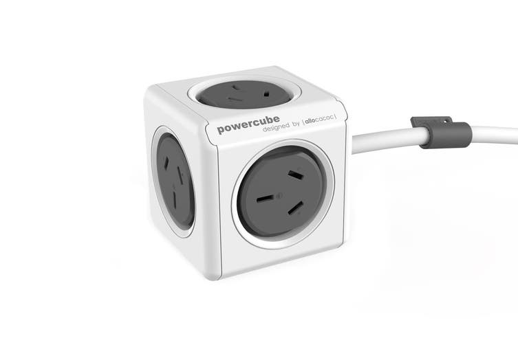 Allocacoc PowerCube 1.5m with 5 Power Outlets - Grey (5300/AUEXPCGRY)