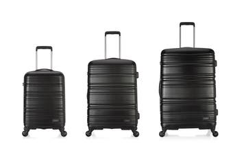 Antler Saturn Roller Case 3 Piece Hardside Luggage Set - Black