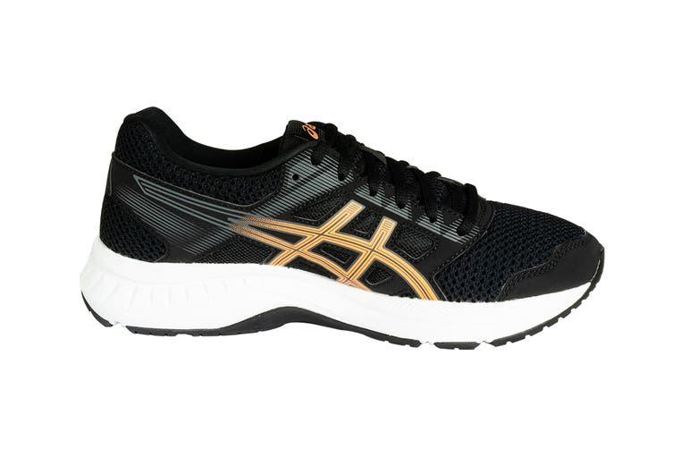 ASICS Women's GEL-Contend 5 Running Shoes (Black/Summer Dune, Size 7)
