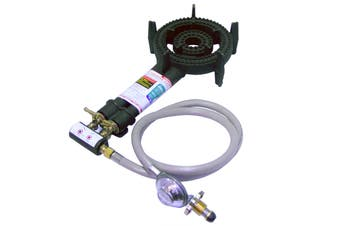Auscrown Double Ring LP Burner with Hose & Regulator