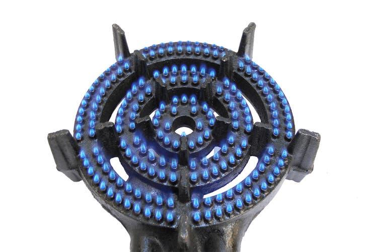 Auscrown Triple Ring LP Burner with Hose & Regulator