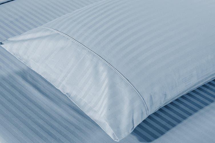 Royal Comfort Kensington 1200TC 100% Egyptian Cotton Stripe Bed Sheet Set (Double, Chambray)