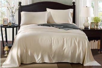 Royal Comfort 100% Natural Bamboo Bed Sheet Set (Beige)