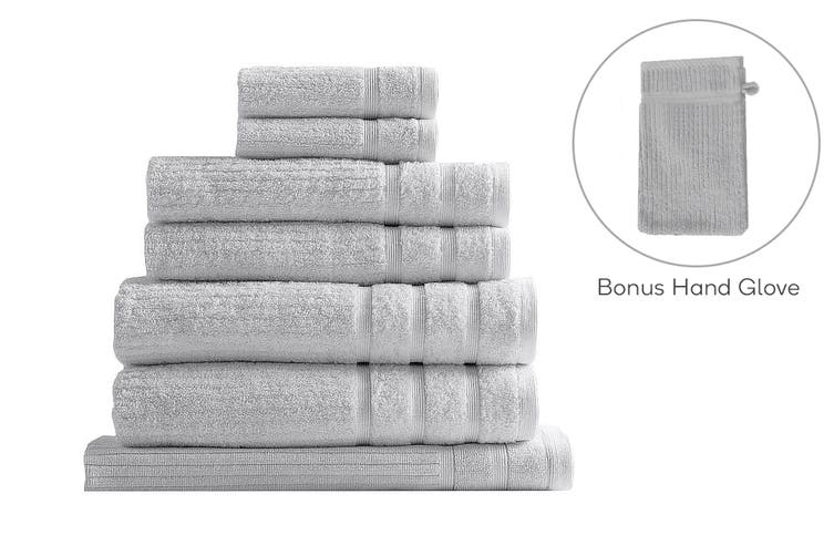 Royal Comfort Set of 7 Eden Egyptian Cotton 600 GSM Towel Pack (Sea Holly)