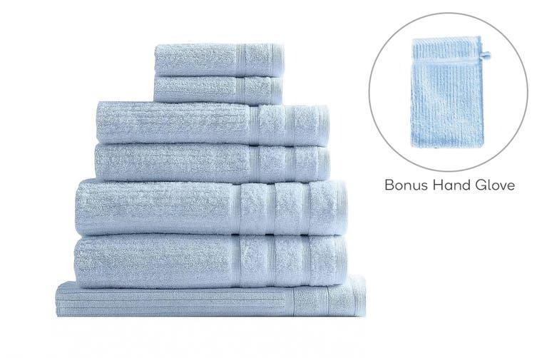 Royal Comfort Set of 7 Eden Egyptian Cotton 600 GSM Towel Pack (Aqua)