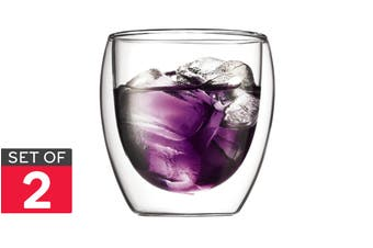 Set of 2 Bodum Pavina Double Wall Glasses - 250ml/Small (4558-10)