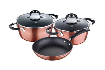 Bergner 5 Piece Pandora Copper Non-Stick Frypan Set