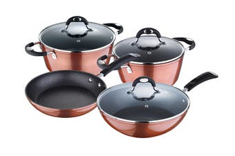 Bergner 7 Piece Pandora Copper Non-Stick Cookware Set