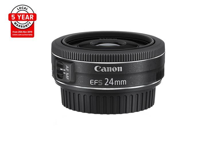 Canon EF-S 24mm f/2.8 STM, Diameter 52mm to suit Lens Hood E52II (EFS2428ST)