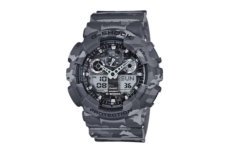 Casio G-Shock Ana-Digital Watch - Grey Camouflage (GA100CM-8A)