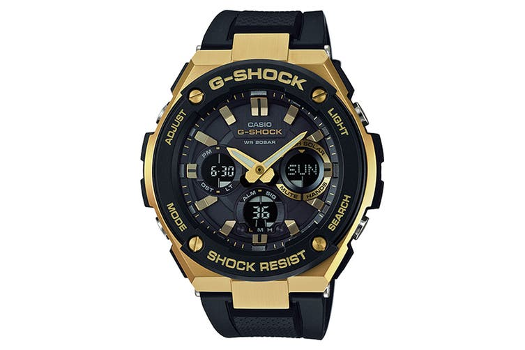 Casio G-Shock G-Steel Ana-Digital Watch - Black/Gold (GSTS100G-1A)