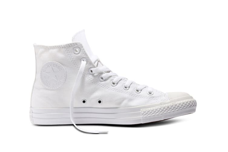 Converse Chuck Taylor All Star Hi (White Mono, US Mens 8.5 / US Womens 10.5)