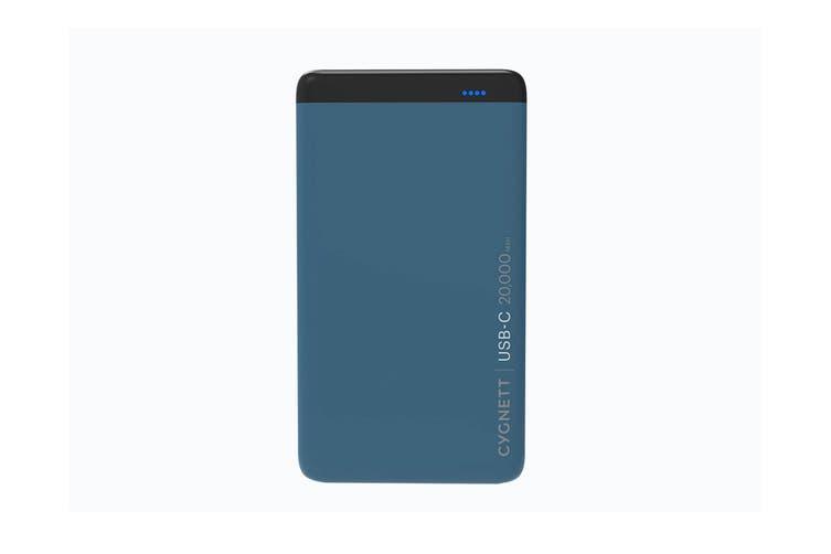 Cygnett ChargeUp Pro 20000 mAh 63W USB-C Power Bank - Teal (CY2224PBCHE)