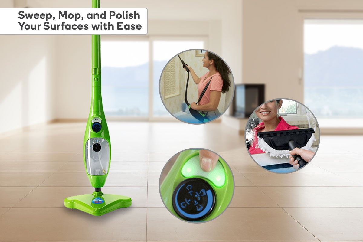 Sweep, mop and polish your surfaces with ease