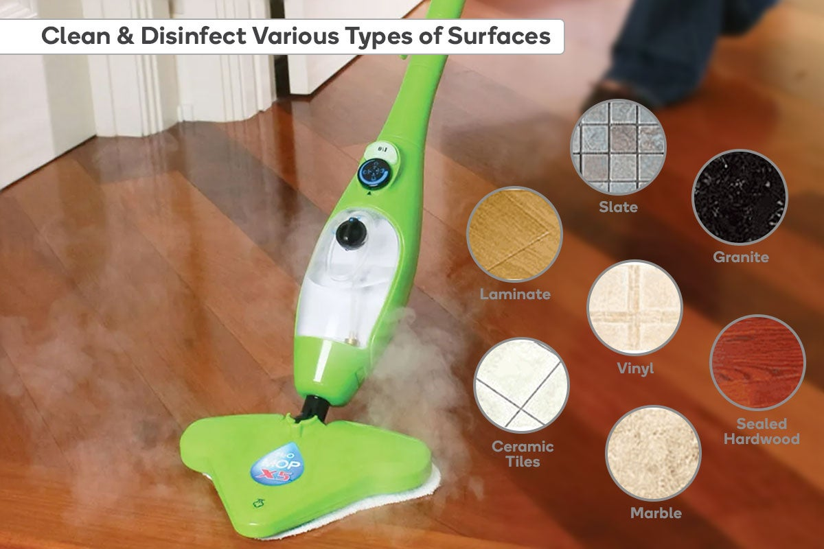 Clean and disinfect various types of surfaces