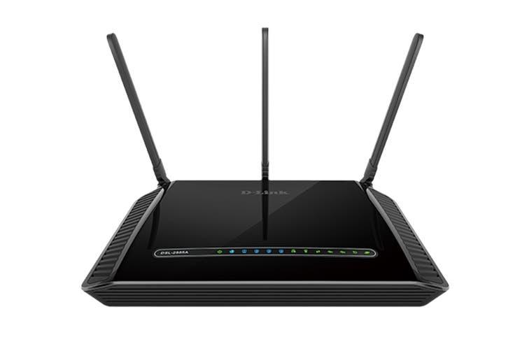 D-Link Dual Band Wireless AC1200 Gigabit ADSL2+ / VDSL2 Modem Router (DSL-2885A)