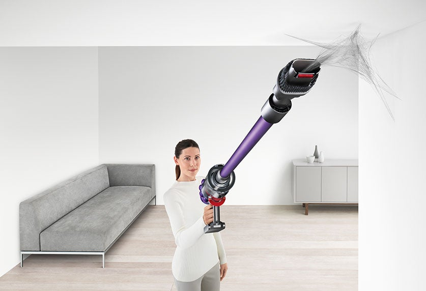 Dyson V10 Animal+ Cordless Vacuum In-line Configuration