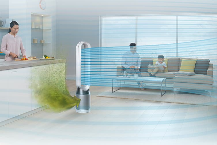 Dyson TP04 Pure Cool Link Purifying Tower Fan (White/Silver)