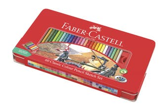 Faber-Castell 60 Piece Classic Colour Pencil Tin Set