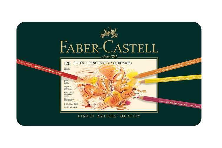 Faber-Castell Polychromos Pencils - 120 Assorted Colours (Tin Case)