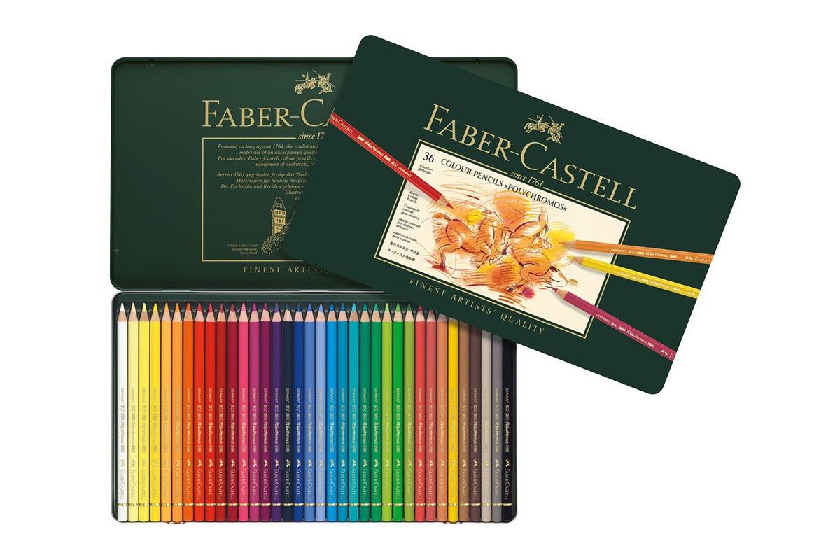 fabercastell polychromos pencils  36 assorted colours