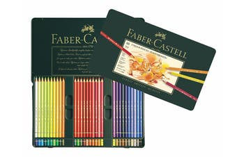 Faber-Castell Polychromos Pencils - 60 Assorted Colours (Tin Case)