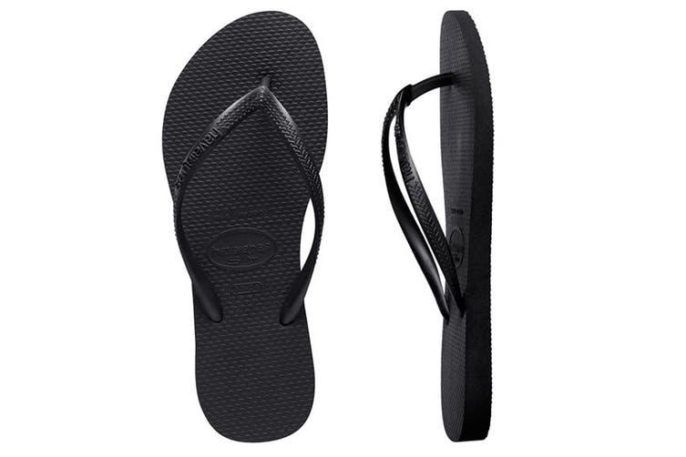 Havaianas Slim Thongs (Black, Brazil 41/42)