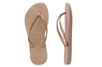 Havaianas Slim Thongs (Rose Gold, Brazil 37/38)