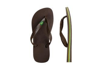 Havaianas Brasil Thongs (Dark Brown, Brazil 35/36)
