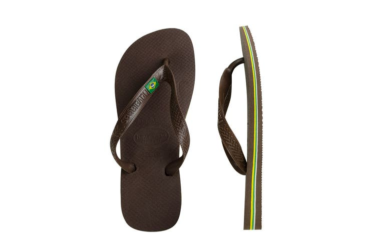 Havaianas Brasil Thongs (Dark Brown, Brazil 35/36)