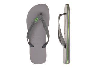 Havaianas Brasil Thongs (Steel Grey, Brazil 39/40)