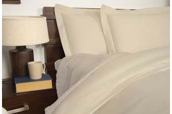 Ardor 1900TC Quilt Cover Set Ivory - Queen Size