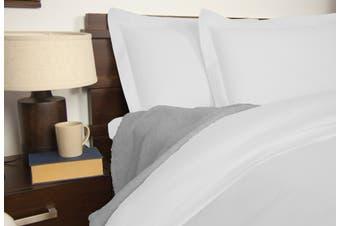 Ardor 1900TC Quilt Cover Set White - Queen Size