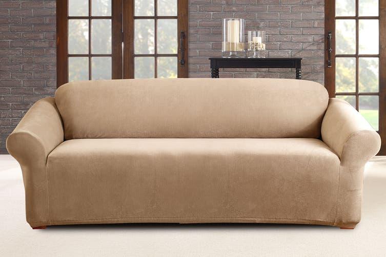 SureFit Pearson Sofa Cover 3 Seater - Dark Flax