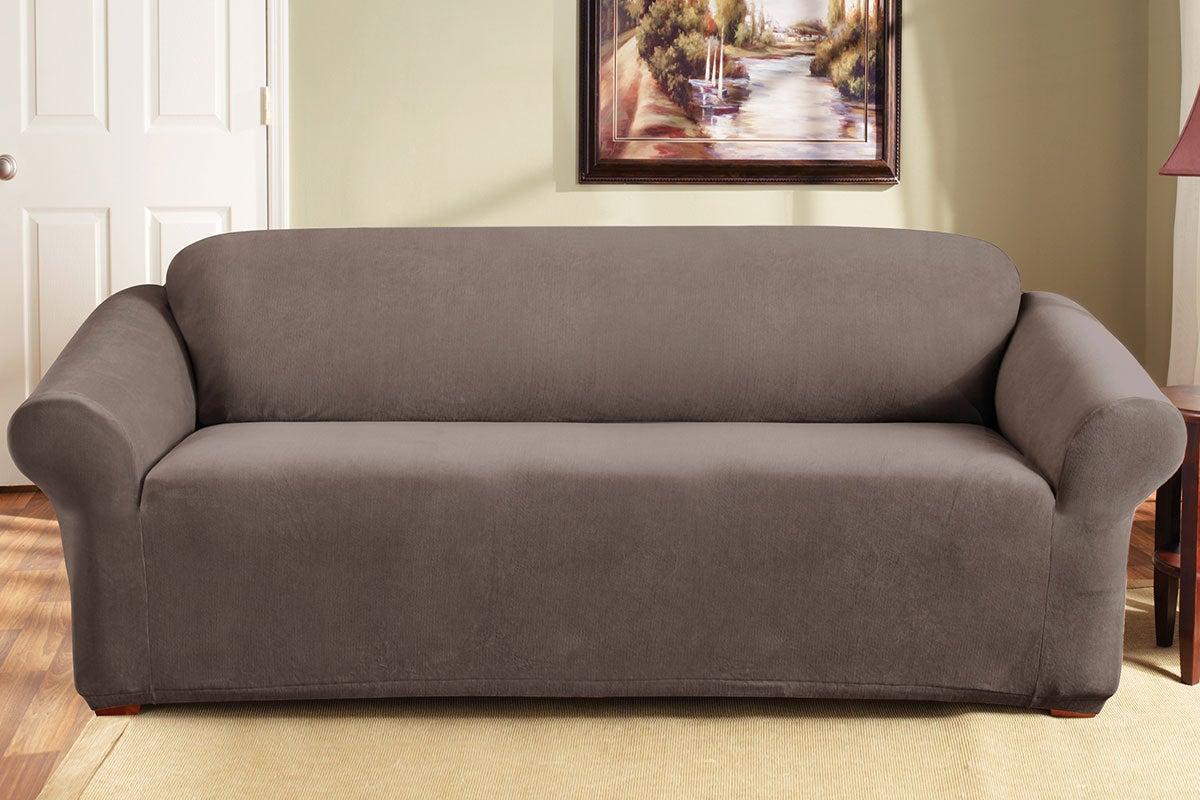 SureFit Pearson Sofa Cover 3 Seater   Taupe
