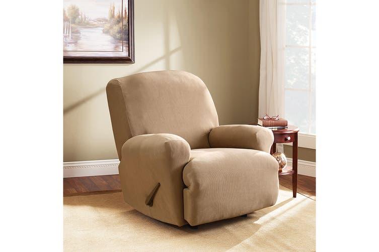 SureFit Pearson Recliner Chair Cover - Dark Flax