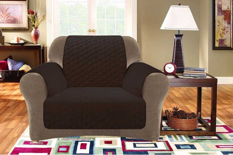 Custom Fit 1 Seater Sofa Protector - Coffee